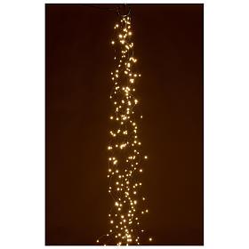 Luci natalizie tenda 294 nanoled luce bianco caldo 220V s2