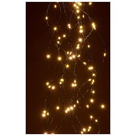 Luci natalizie tenda 294 nanoled luce bianco caldo 220V s3