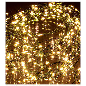 Luci natalizie tenda 294 nanoled luce bianco caldo 220V s4