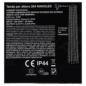 Luci natalizie tenda 294 nanoled luce bianco caldo 220V s6