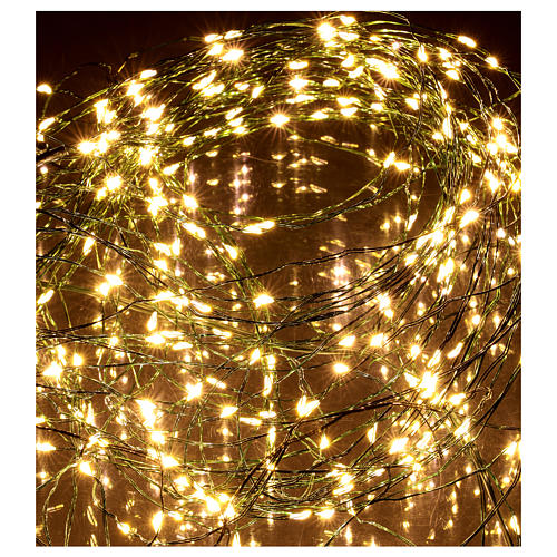 Luci natalizie tenda 294 nanoled luce bianco caldo 220V 4