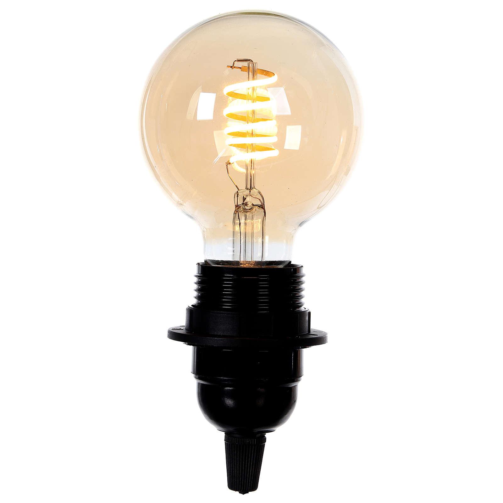 Lampadina luce ambrata 4W E27 3
