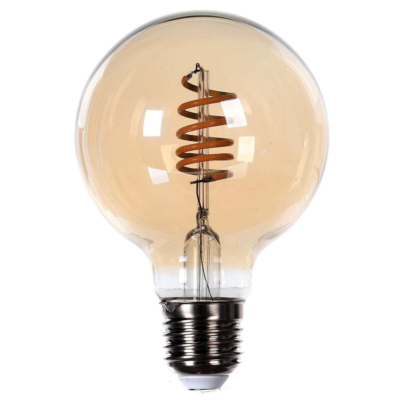 Lâmpada luz cor ambarina 4W E27 3