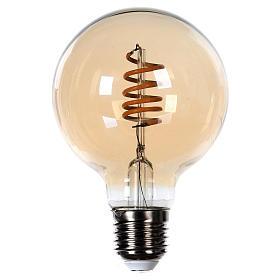 Lâmpada luz cor ambarina 4W E27 s1