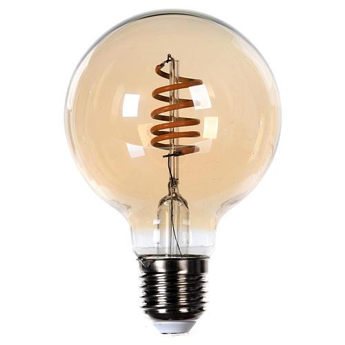 Lâmpada luz cor ambarina 4W E27 1