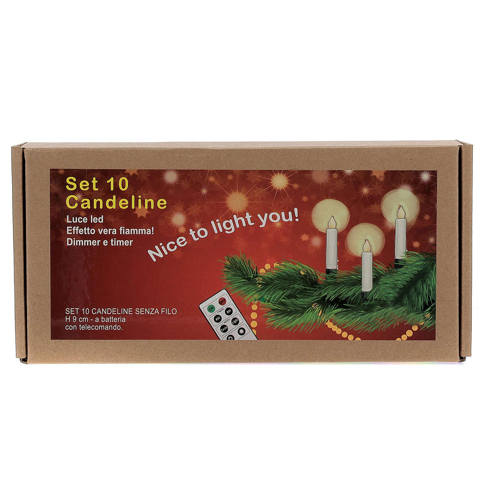 Set 10 candeline per albero con telecomando 3