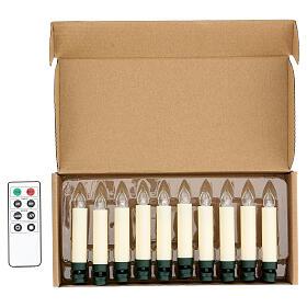 Set 10 candeline per albero con telecomando s1