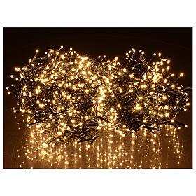 Chaîne 1200 LED blanc chaud avec jeu de lumières extérieur courant s2