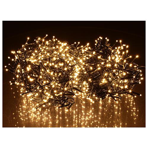 Chaîne 1200 LED blanc chaud avec jeu de lumières extérieur courant 2