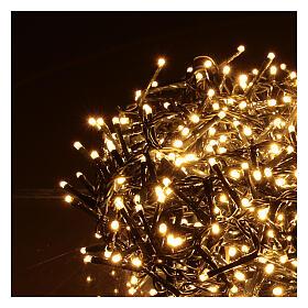 Grinalda de 1200 LED branco quente com jogos de luzes exterior corrente s3