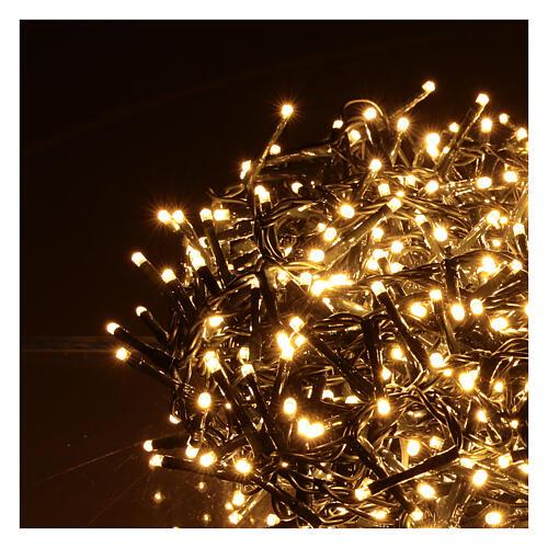 Grinalda de 1200 LED branco quente com jogos de luzes exterior corrente 3