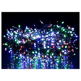 Chaîne 800 LED multicolores extérieur courant s2