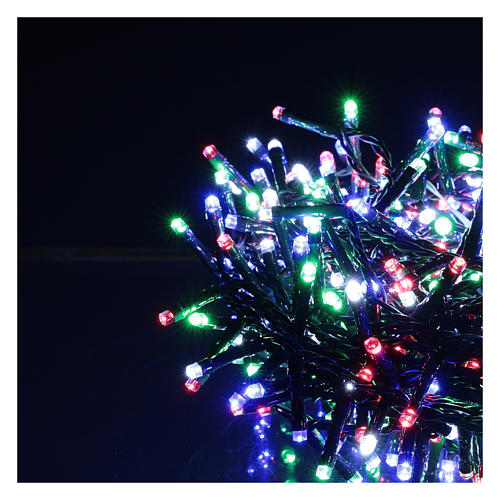 Chaîne 800 LED multicolores extérieur courant 3
