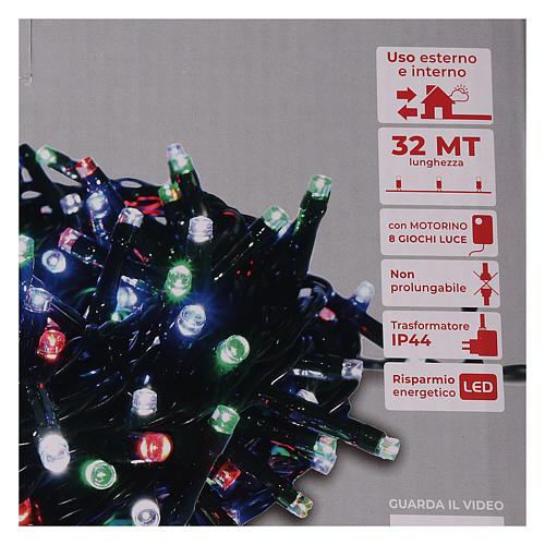 Chaîne 800 LED multicolores extérieur courant 5