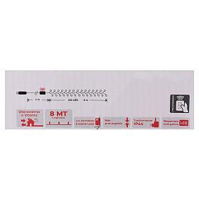 Chaîne 200 LED blanc froid télécommande pour extérieur 220V s6