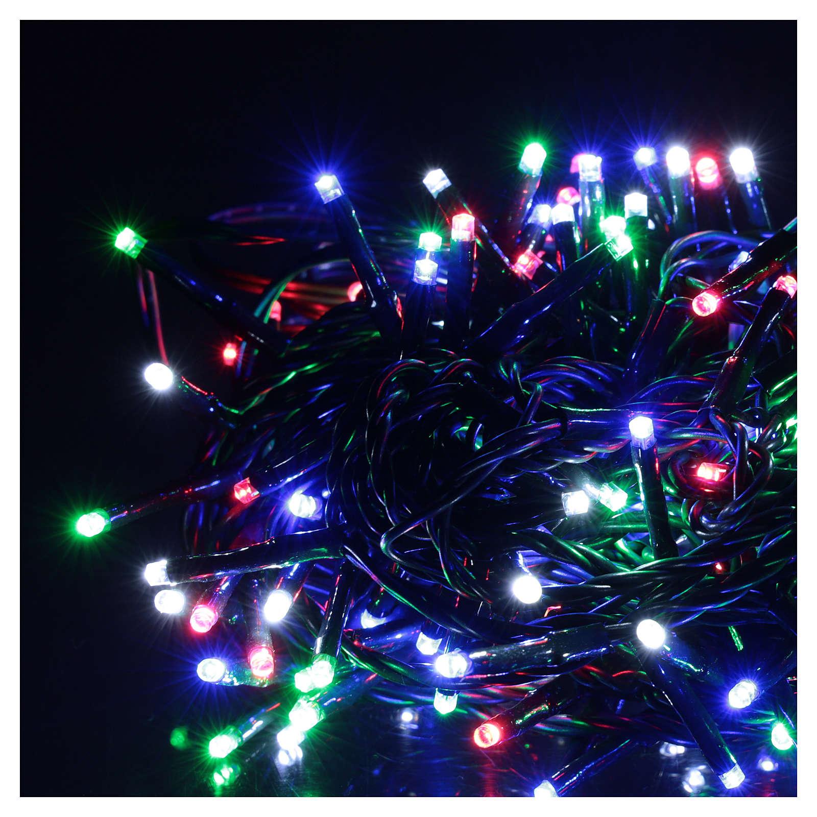 Chaîne 200 LED multicolores télécommande pour extérieur 220V 3