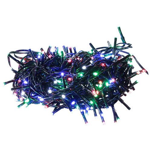 Chaîne 200 LED multicolores télécommande pour extérieur 220V 1