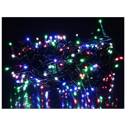 Grinalda LED de 200 luzes multicores com controle remoto exterior 220V 2
