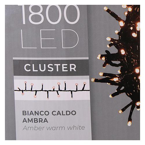 Cadena 200 led blanco cálido ambarino control remoto exterior 220V 11