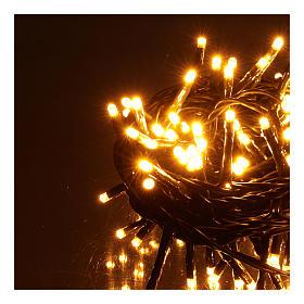 Guirlande lumineuse 200 LED blanc chaud ambré télécommande pour extérieur 220V s3