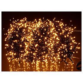 Guirlande lumineuse 200 LED blanc chaud ambré télécommande pour extérieur 220V s8