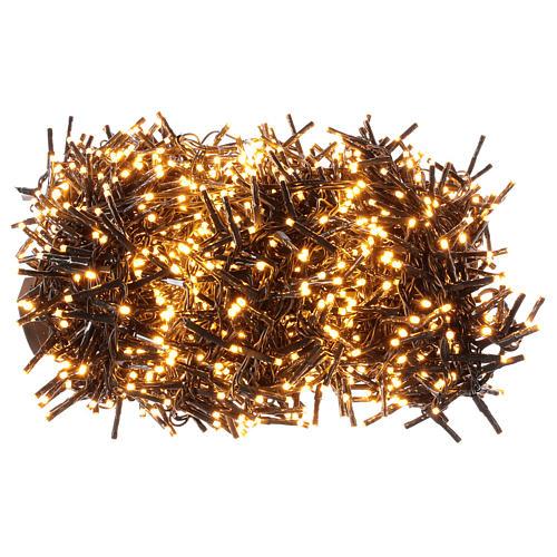 Guirlande lumineuse 200 LED blanc chaud ambré télécommande pour extérieur 220V 7