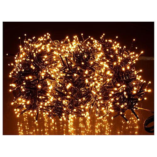 Guirlande lumineuse 200 LED blanc chaud ambré télécommande pour extérieur 220V 8