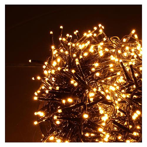 Guirlande lumineuse 200 LED blanc chaud ambré télécommande pour extérieur 220V 9