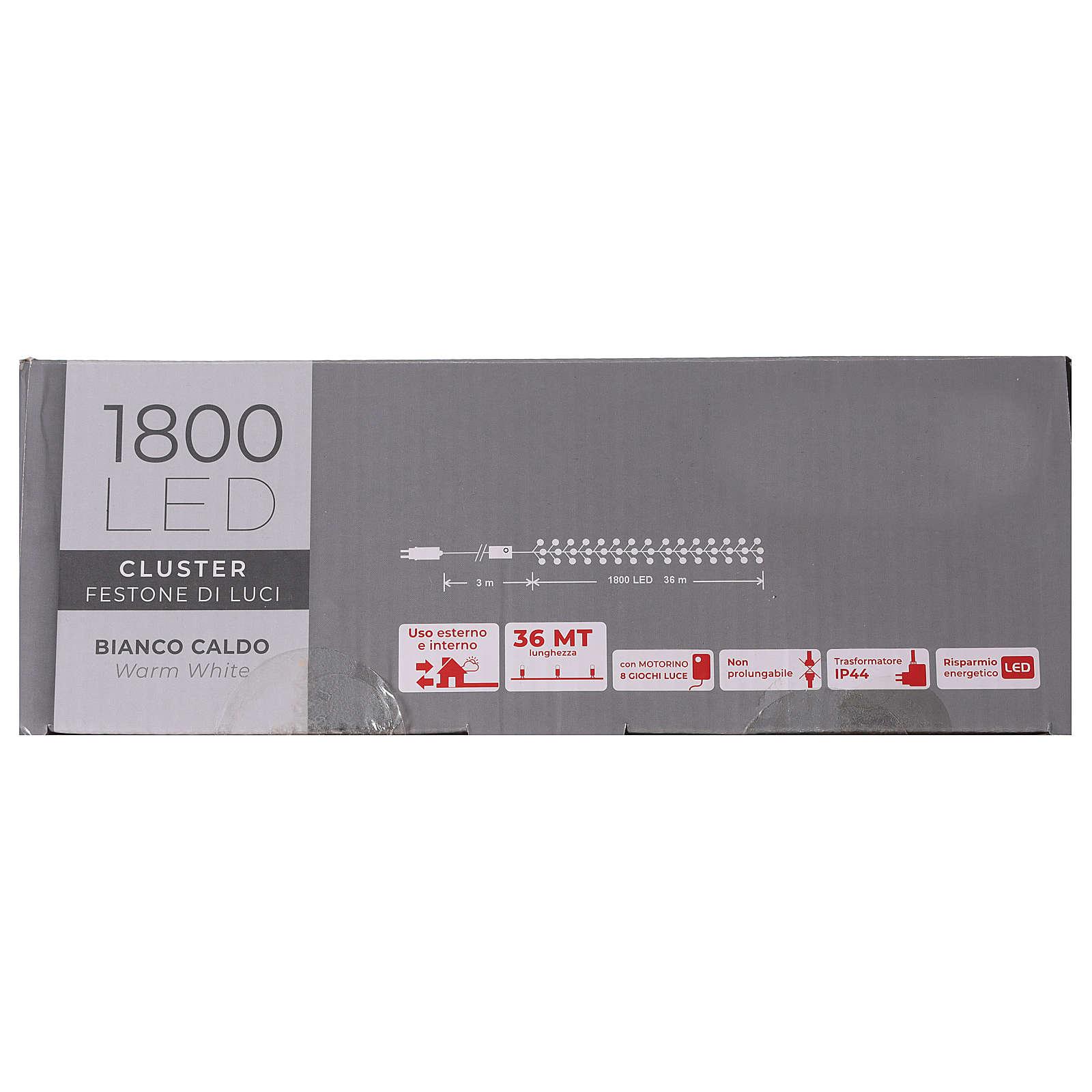 Cadena 1800 led blanco cálido exterior corriente 3
