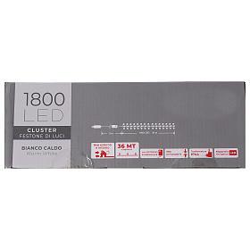 Cadena 1800 led blanco cálido exterior corriente s8
