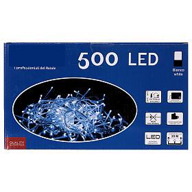Catena luminosa 500 led bianco freddo cavo trasparente esterno 220V s4