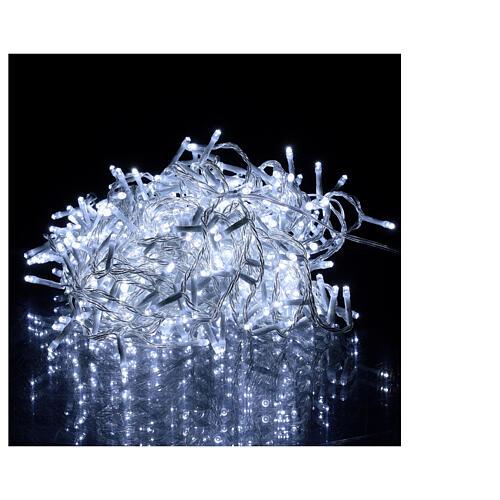 Catena luminosa 500 led bianco freddo cavo trasparente esterno 220V 1