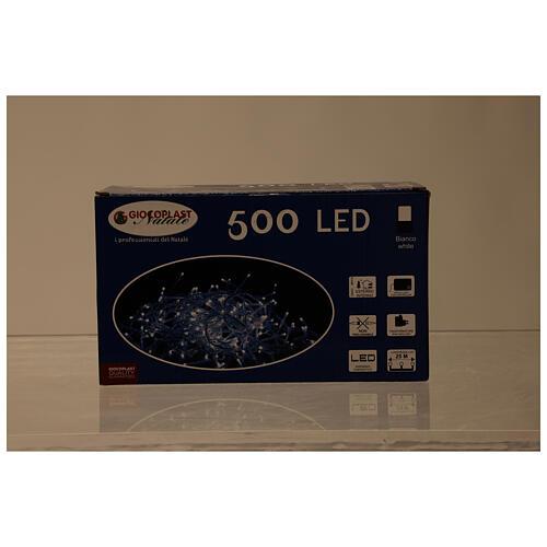 Catena luminosa 500 led bianco freddo cavo trasparente esterno 220V 6