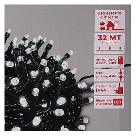 Lichterkette mit 800 LEDs kaltweiß, 220V s4