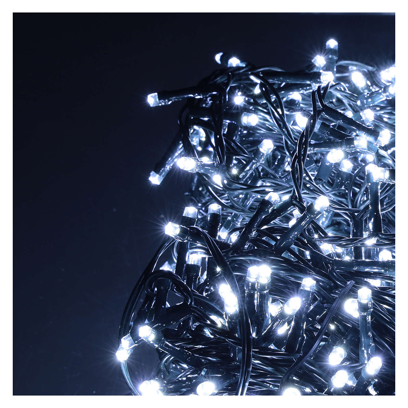 Cadena luminosa 800 led blanco frío exterior corriente 3