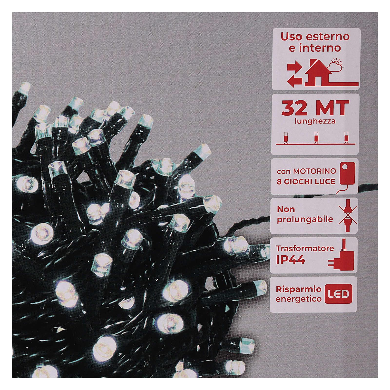 Guirlande 800 LED blanc froid extérieur courant 3