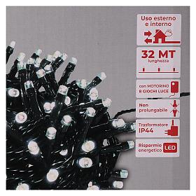 Guirlande 800 LED blanc froid extérieur courant s5