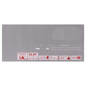 Guirlande 800 LED blanc froid extérieur courant s6