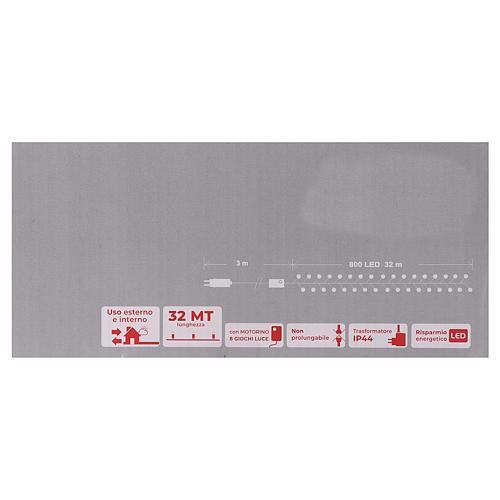 Guirlande 800 LED blanc froid extérieur courant 6