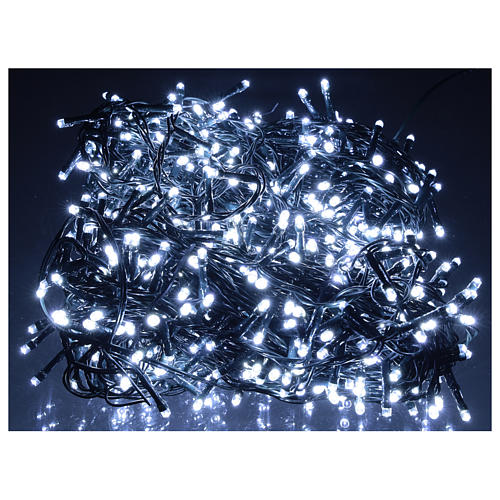 Chain lights, 800 LEDS bright cold white electric powered 2