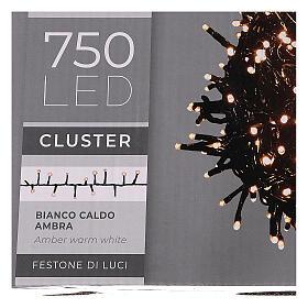 Cadena luminosa 750 led blanco cálido ambarino exterior 220V s5