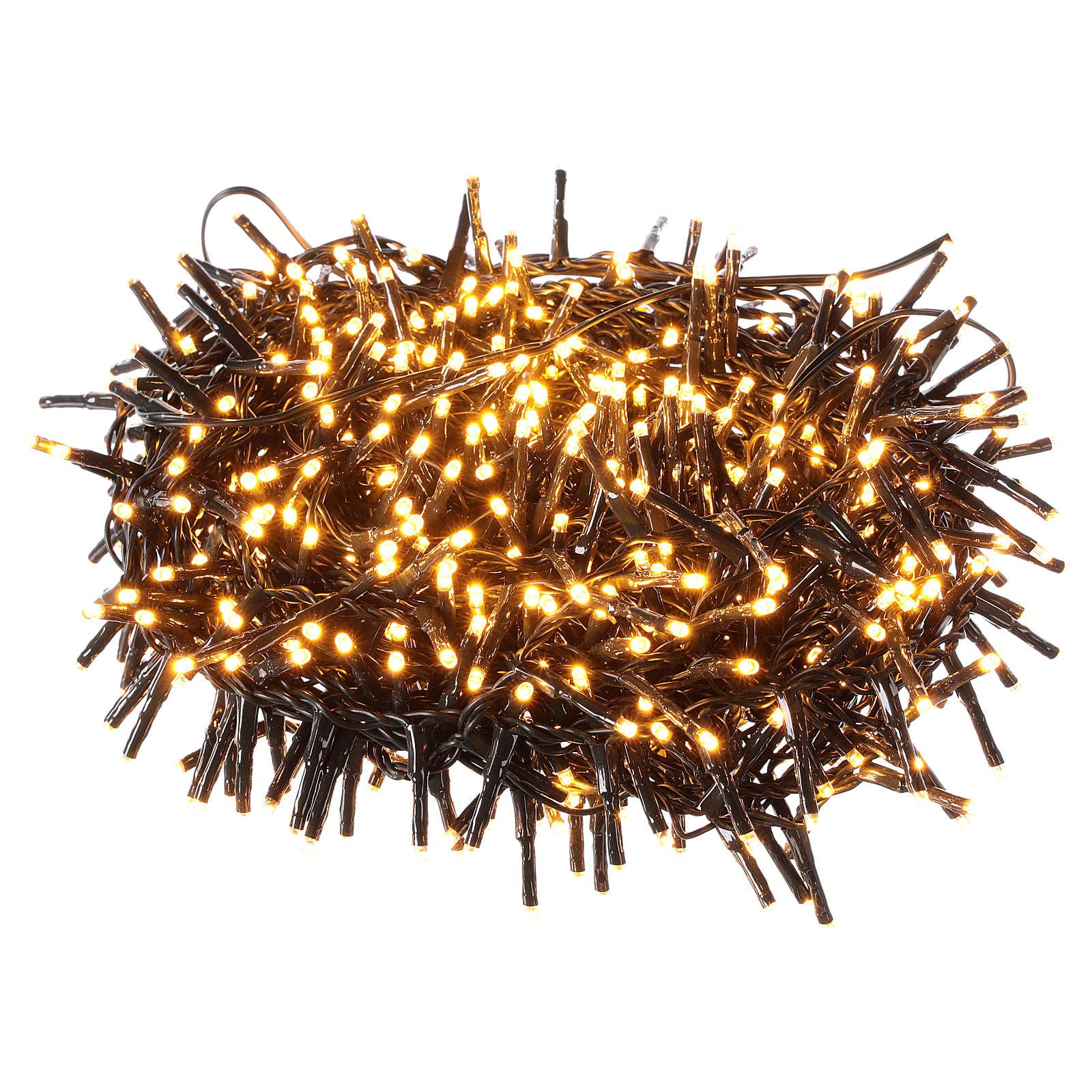 Guirlande 750 LED blanc chaud ambrée extérieur 220V 3