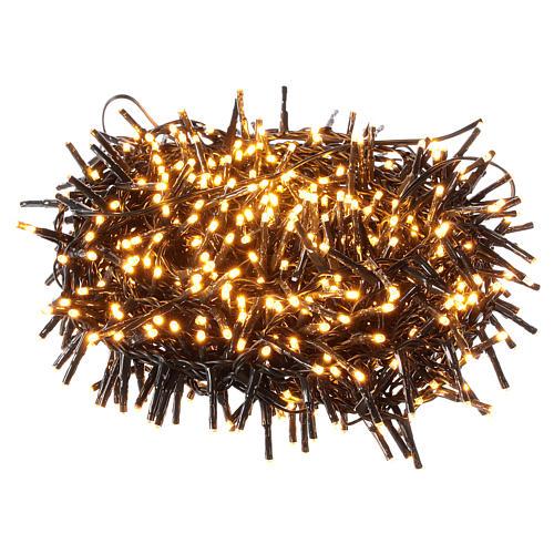 Guirlande 750 LED blanc chaud ambrée extérieur 220V 1