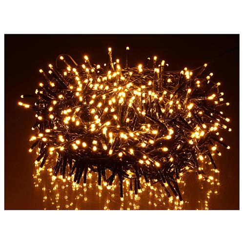 Guirlande 750 LED blanc chaud ambrée extérieur 220V 2