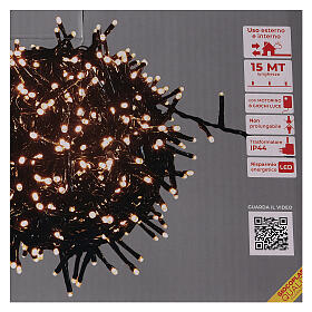 Chain lights 750 LEDs amber warm white external 220V s4