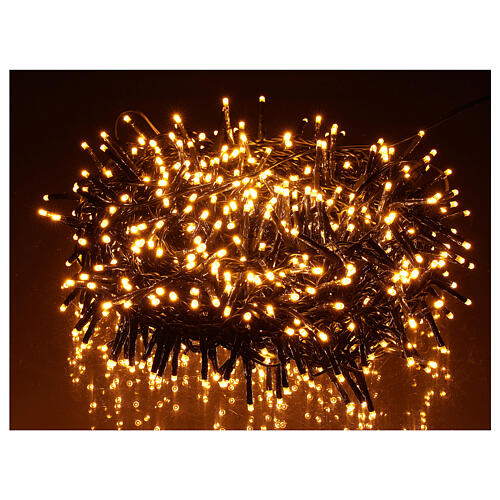 Chain lights 750 LEDs amber warm white external 220V 1