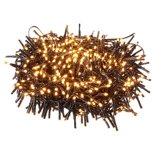 Chain lights 750 LEDs amber warm white external 220V 3