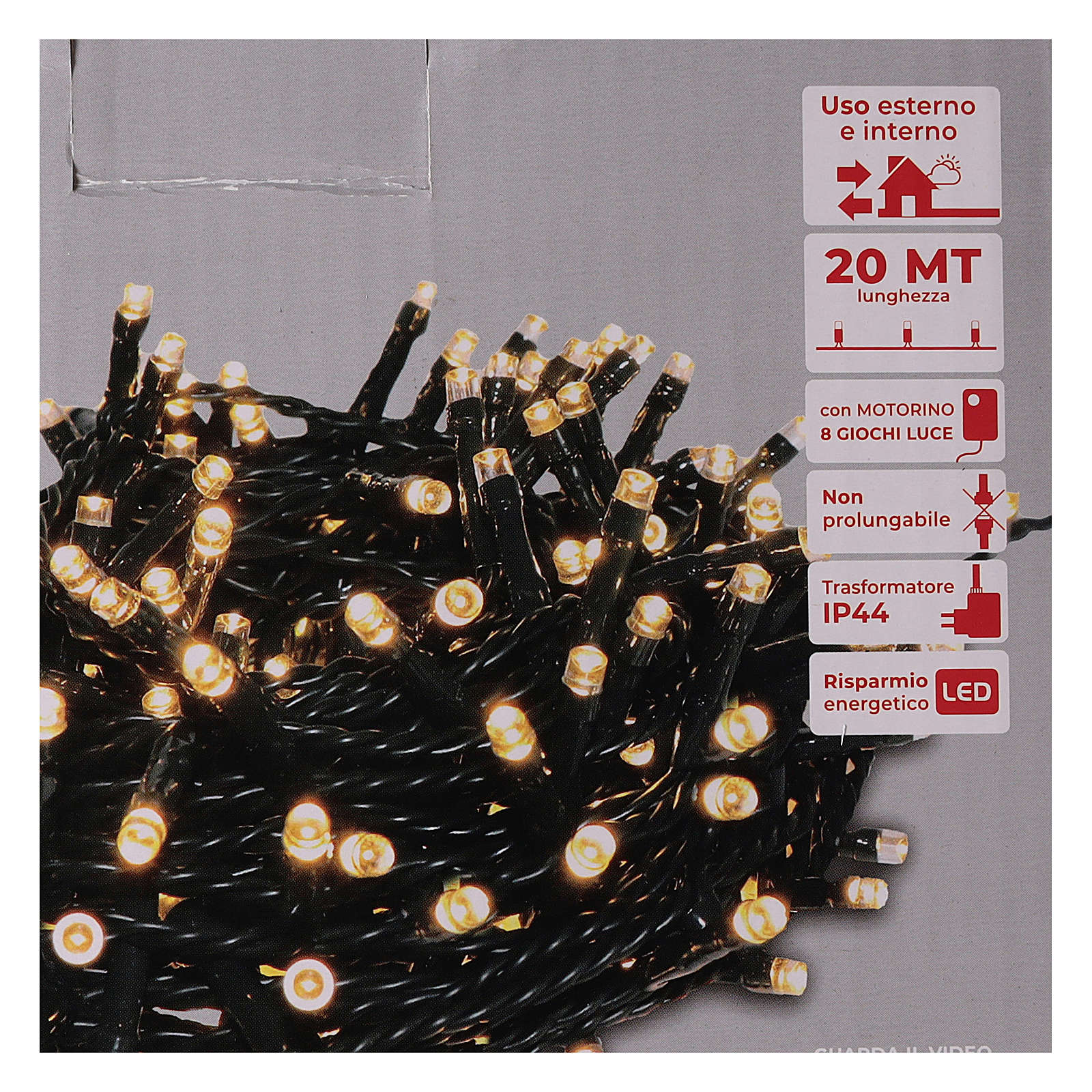 Chain lights 500 LEDs bright warm white 3