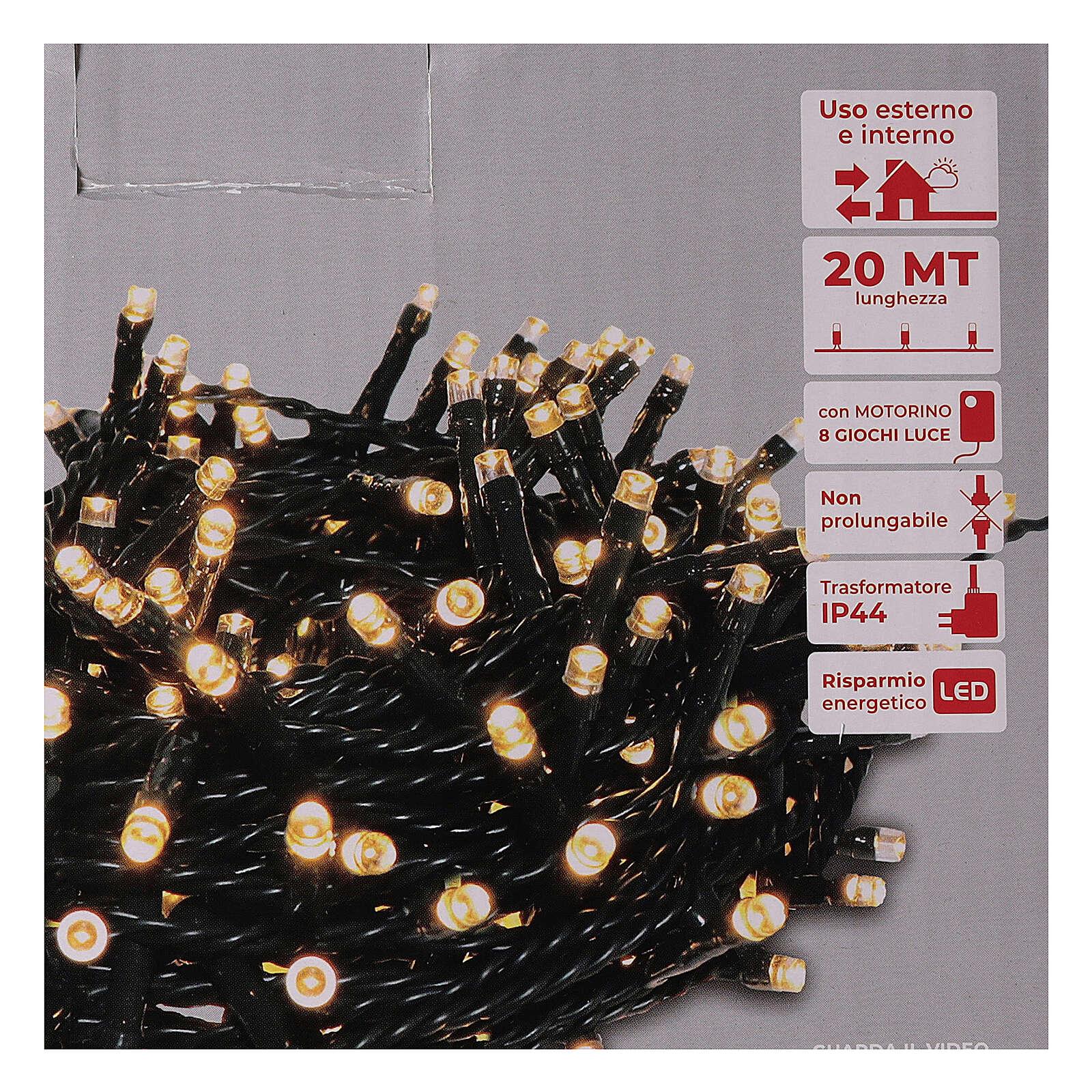 Chain lights 500 LEDs bright warm white 3