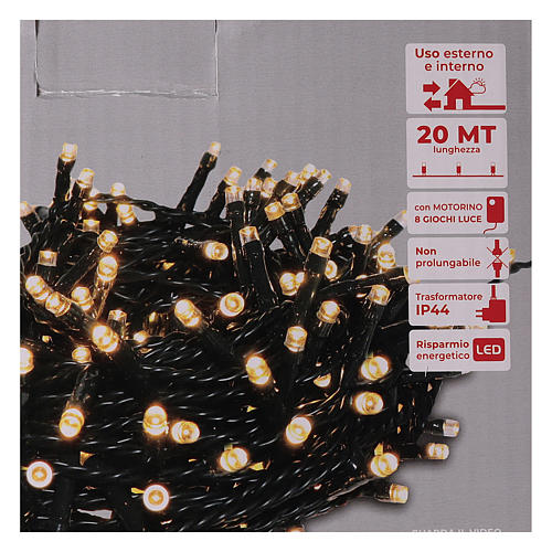 Chain lights 500 LEDs bright warm white 5